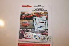 DECALS 1/43 FORD FOCUS WRC SOLBERG RALLYE ESPAGNE CATALOGNE 2008 RALLY CATALUNYA
