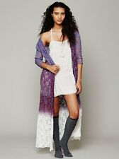 136512 NWD Free People FP One Dip Dye Lace Robe Floral Wrap Coverup Dress XS