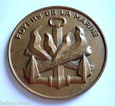 Médaille en bronze, FOYERS de la MARINE, diamètre: 74 mm, poids: 128 grs.