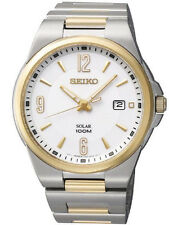 NEW Seiko SNE210 Two-Tone Dress Solar Classic Men's Watch $285 - Great Gift