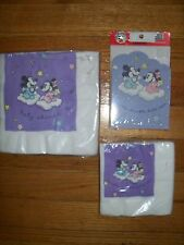 3pc Lot Party Express Disney Babies Baby Shower Party Goods Lavender NOS