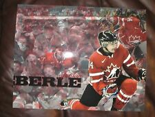 JORDAN EBERLE AUTOGRAPHED TEAM CANADA 11X14 PHOTO-FULL GRAPH-COLLAGE TYPE PHOTO