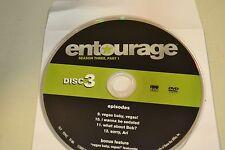 Entourage Third Season 3  Part 1 Disc 3 Replacement DVD Disc Only **