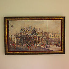 Impressionistic Oil on Canvas Painting of St. Mark's Square, Venice