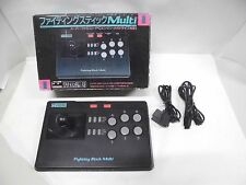 FIGHTING STICK MULTI -- Boxed. Super famicom, Mega Drive, PC Engine. Japan 14304