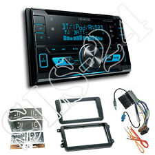 Seat Leon Doppel-DIN Blende+Radio Adapter+ Kenwood DPX5000BT Bluetooth Autoradio