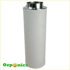 AIR ACTIVATED CARBON FILTER 100MM X 250MM HYDROPONICS GROW TENT GROW LIGHT