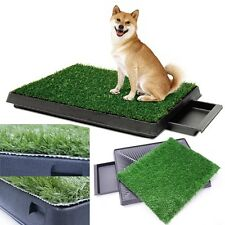 Indoor Puppy Dog Pet House Potty Training Pee Pad Mat Tray Grass Toilet US-sale