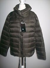 Zara feather down ultra léger gilet noir veste marron taille s ref 5071/240