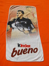 TSONGA J-W Serviette Publicitaire Advertising Towel Kinder Bueno Tennis Chocolat