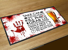 Shaun of the Dead Horror Quote blood splats bar runner Pubs & Cocktail Bars