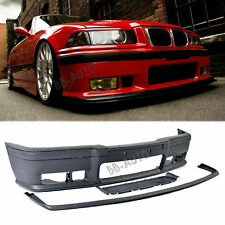 For 92-98 BMW E36 3-Series M3 OE Style Front Bumper Moldings & Removable Lip