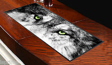 WOLF WITH GREEN EYES DESIGN BAR RUNNER IDEAL FOR ANY OCCASION PUBS CLUBS SHOPS