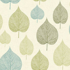 Blue and Green Leaf Wallpaper Signature Leaves by Crown M1071