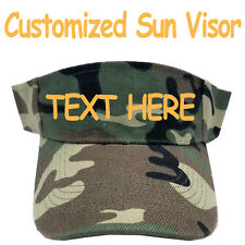 Personalized Sun Visor Cap Hat Camo Camouflage Army Military Print Pattern
