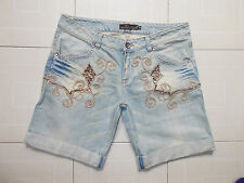 SPACE STYLE CONCEPT (made in Italy) Shorts Donna Pantaloncini di Jeans Tg 44