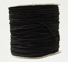 Black 1mm dia. Elastic Cord string 328 feet Spool for crafts beading  sewing