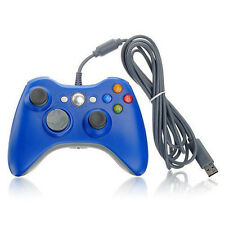 USB Wired Gaming Gamepad Controller Blue For Microsoft Xbox 360 Vista Windows 7