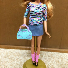Barbie Life In The Dreamhouse Summer Doll Cloth Outfit Bag Shoe Denim Jean Skirt