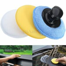 4 in 1 Microfibre Sponge Foam Polish Wax Cleaning Applicator Pads & Handle Kit