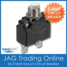 1 x 12V~24V 5A WHITE BUTTON CIRCUIT BREAKER-Panel Mount/Auto/Boat/Marine/Caravan