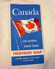 VINTAGE 1969 CANADA AND NORTHERN UNITED STATES HIGHWAY MAP