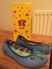 Girls Lulu Blue Flat Shoes UK 13