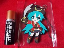 "MIKU HATSUNE VOCALOID Pirate Rubber Mascot 2.5"" 6.5cm / UK DESPATCH"
