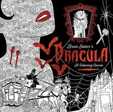 Dracula Bram Stoker Adult Colouring Book Gothic Horror Halloween Vampire Fantasy