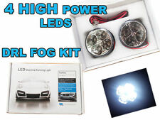 2x 70MM ROUND  DRL 4 LED DAYTIME RUNNING LIGHTS  FRONT SPOT /FOG LIGHTS 6k white