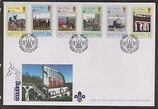 GB - ISLE of MAN 2007 Centenary of Scouting/Europa SG 1342/47 FDC