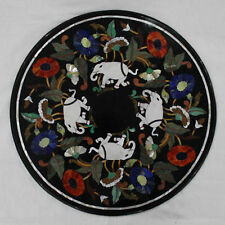 """24"""" Coffee Table Top Marble Inlay Pietra Dura Art For Home Decor"""
