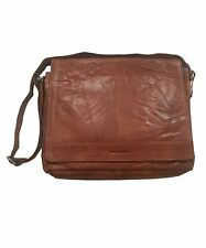 Spikes & Sparrow Noah Business Messenger Bag in Brandy New to the USA!