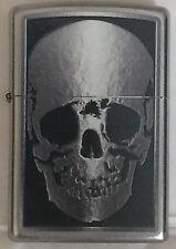 Zippo Windproof Skull X-Ray Lighter, Finish Is Satin Chrome, 051149, New In Box