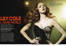 "PUBLICITE ADVERTISING 054   2010  LILY COLE  ""l'ame fatale"" ( 6 pages)"