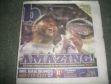 BALTIMORE RAVENS Super Bowl 47 Champs RAY RICE, RAY LEWIS, JOE FLACCO MVP