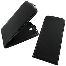 Lenovo A319 Flip Case Schwarz Handytasche Flipcase Klapp Etui Schutz Tasche