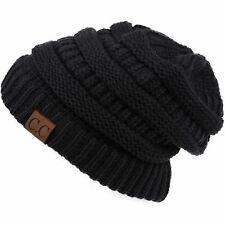 Women's Slouch CC Beanie Cap Oversize Caps Knit Baggy Ski Hat Unisex Winter Hats