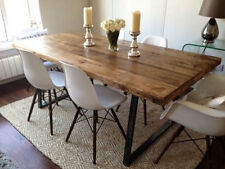 120cm x 80cm Vintage Industrial Rustic Reclaimed Plank Top Dining Table