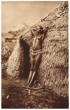 1920's Old Vintage Black African Kenyan Female Nude Model Photo Gravure Print