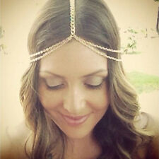 1x Women Metal Hair Head Chain Jewelry Headband Head Piece Hair Band Chain