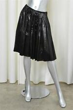 PRADA Black Pleated Satiny Silk Blend Full Circle Skirt sz. 40 / 8