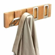 Hookaboo 4 Gancho De Pared Perchero Contemporáneo Natural Madera Y Metal