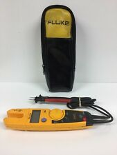 Fluke T5-600 Voltage, Continuity & Current Tester -CAT III 600V w/Case #30022049