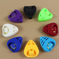 2 x Plactic Guitar Pick Plectrum Holder Case Box Mixed Colours Holder Portable