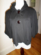 THEME BLACK SHORT BABY DOLL BUTTON FRONT JACKET NWT$89 MISSES MED