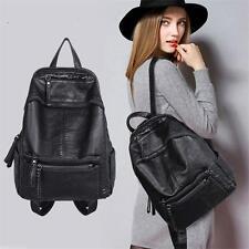 Lady Women Leather Backpack School Rucksack College Shoulder Satchel Travel Bag