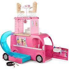 Barbie Camper Van, RV - Pop Up, Toy, Play, Pool and Slide, Playset w/ Doll NEW