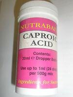Nutrabaits CAPROIC acid 20ml Carp fishing bait ingredient