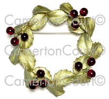 "Holly Wreath Pin by Michael Michaud, ""Welcome Home"" - Ours Exclusively!"